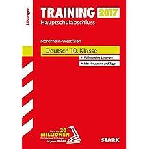 Training Zentrale Prüfung Hauptschule Typ A NRW - Deutsch Lösungen