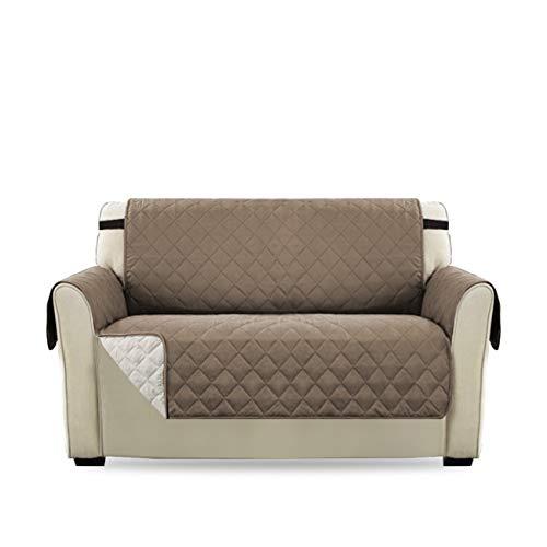 H.versailtex copridivano 2 posti impermeabile divano protector mobili coperture su due lati per cani/gatti letto con divano slipcovers 190 x 116cm, grigio marrone