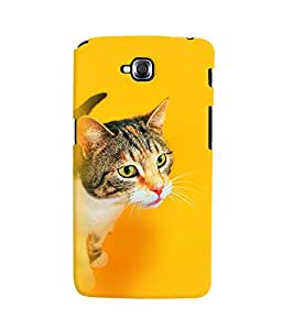 Fuson 3D Printed Cat Designer back case cover for LG G Pro Lite - D4324
