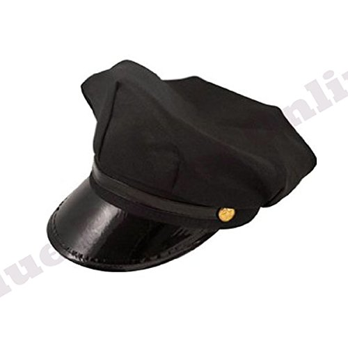 Childrens Kids Boys Chauffeur Limo Taxi Driver Black Hat Cap Fancy Dress by Blue Planet (Dress Kostüme Fancy Chauffeur)
