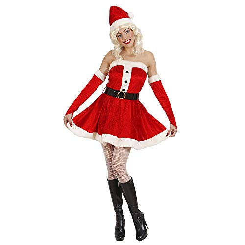 Widmann - Erwachsenenkostüm Miss Santa aus Samt