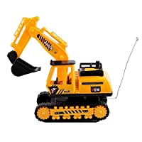 Kids Remote Control Toys Creative Electric Excavator Multi Function Kids Early Education Construction Tractor Toys Smart Excavator without Battery 1Set