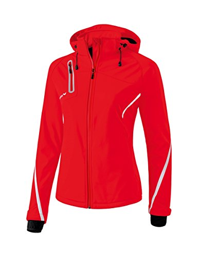 Erima Damen Softshelljacke Function mit abnehmbarer Kapuze, Handstulpen und seitlichen Reißverschlusstaschen