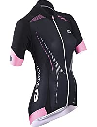 SUGOi RSE Jersey - Short Sleeve - Women's Black/Super Pink, L by SUGOi