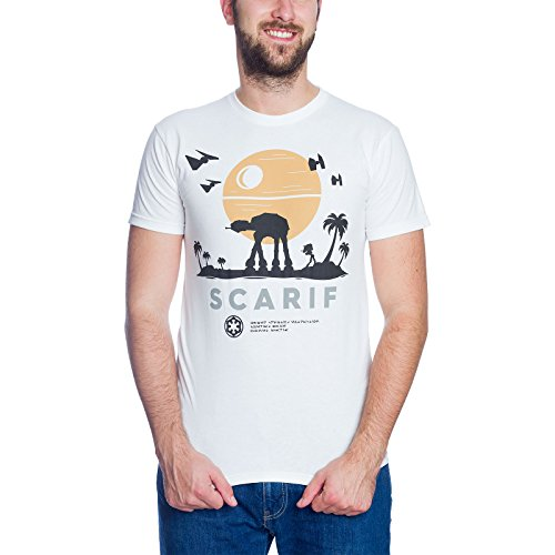 Star Wars Scarif T-Shirt zu Rogue One Elbenwald Baumwolle Weiß Weiß