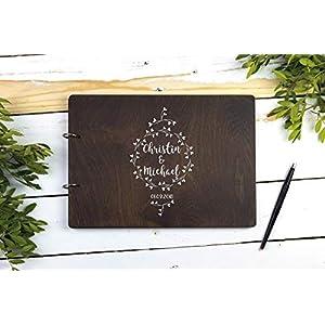 Personalisiertes Hochzeitsalbum Holz Fotoalbum Gästebuch Hochzeit