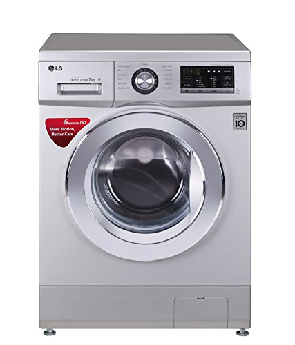 LG 7 kg Fully-Automatic Front Loading Washing Machine (FH2G6HDNL42, Luxury Silver)