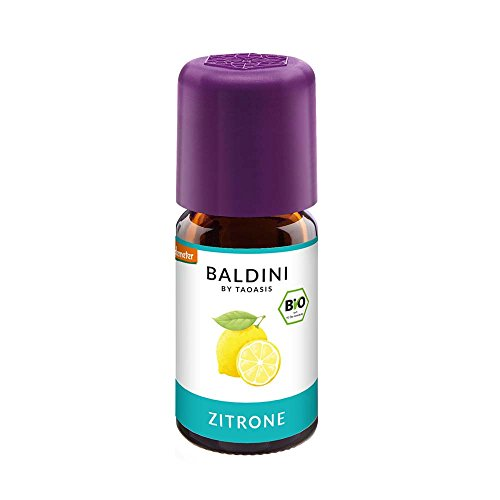 Baldini - Zitronenöl BIO,100% naturreines ätherisches BIO Zitronen Öl fein, 5 ml - Zitrone Zahnpasta