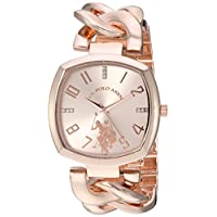 U.S. Polo Assn. Women's Quartz Metal and Alloy Casual Watch, Color Rose Gold-Toned (Model: USC40251AZ)