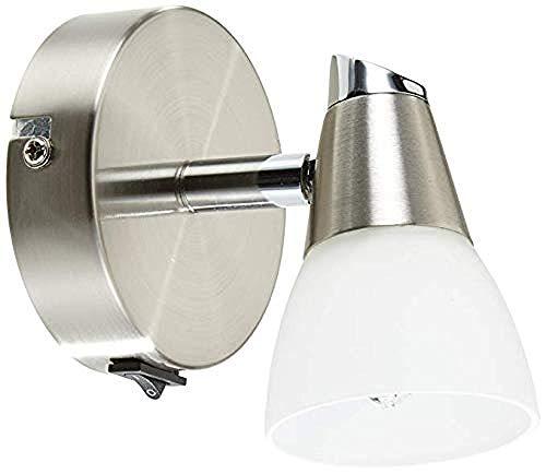 Kronleuchter Eisen Glas Wandlampe Universal Kopf Halogen Wandlampe Und Drehgelenk Matt Nickel Austauschbare E 4Led Birne -
