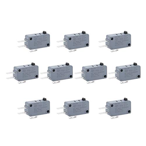 ZCHXD 10pcs G5T16-E1Z200 Micro Limit Switch Button SPDT Momentary Snap Action (Snap-action Switch)
