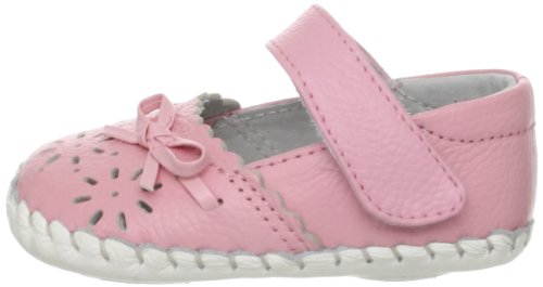 Little Blue Lamb cheveux de bébé Chaussures d'apprentissage de marche Ballerines Ruban 3502 rose Cuir Véritable - - Rose, 18-24 Monate - Rose