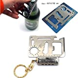 #3: Ruff Outdoor Multi Function Mini Emergency Survival Credit Card Knife camping Tool 11 in 1