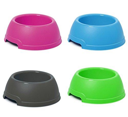 Takestop cuenco Bandeja plástico redonda d.25X 9.5hcm 1.3lt para cocker perro gato mascotas Comedero comida Agua Color aleatorio