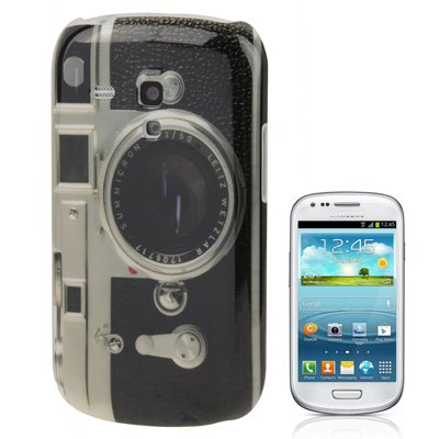 Rocina Retro Camera - Funda para Samsung Galaxy S3 Mini, gris