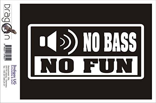 Preisvergleich Produktbild INDIGOS UG Aufkleber Autoaufkleber - JDM Die Cut Auto OEM - No Bass no Fun - 210x100mm pink - Auto Laptop Tuning Sticker Heckscheibe LKW Boot