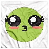 DIMAA Kawaii Bandana, Anime Eyes Emoji Cartoon, Unisex Head and Neck Tie 60x60cm