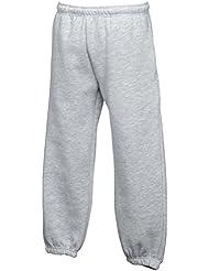NUEVO Fruit of the Loom mejor ajuste pantalones de jogging kid con bolsillos laterales Azul azul marino