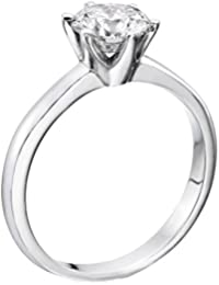 0.50 Carat Round Diamond Solitaire Engagement Ring in 18k white-gold EF I1-I2