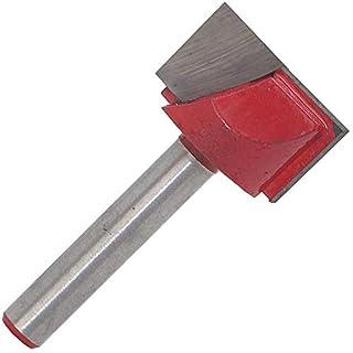 Bodenreinigungs-Bit MASO 6 mm gerader Schaft, Reinigungsknopf, Oberfräser, CNC-Fräser, Holzbearbeitungswerkzeug, Bit für Schlitz, Trimmen (Kinfe-Größe: 10-32 mm), rot