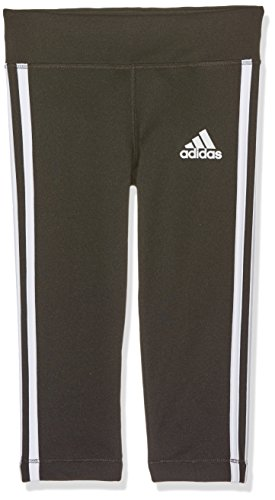 (adidas Mädchen Gear up 3/4 Tights, Black/White, 140)