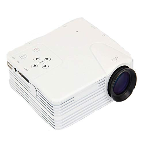 Mini-Multimedia-Videoprojektor, LHZTZKA Portable unterstützt 1080P VGA HDMI USB SD AV, Projektor-Heimkino-kompatibel mit PS4, Xbox, iPad, iPhone, Android-Telefon, Weiß