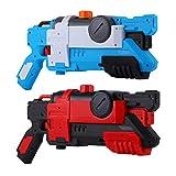 Micovay 2 Stück Wasserpistole Spielzeug 600ML für Kinder und Erwachsene, Lange Schussreichweite bis zu 10M Wasser-Blaster für Schwimmbad Strandsand Party Wasserschlacht Sommer Spielzeug