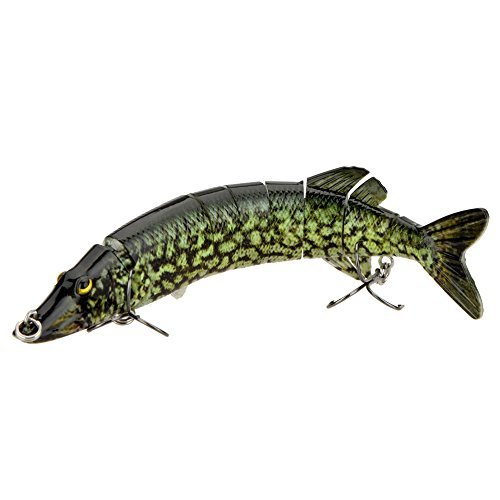 'Lixada 8/20 cm 66 g realista multi-jointed 8-segement Pike Muskie señuelo de pesca Swimbait Crankbait cebo duro Fish agudos Hook Tackle