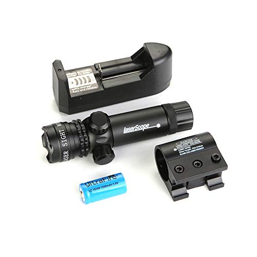 HENGKANG 650mn 2KM Laser Grüner Punkt Einstellbarer Umfang Mit Ein/Aus-Schalter + Picatinny/Weaver Mount +Fassmontage