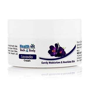 Healthvit Bath and Body Lavender Cream, 50g