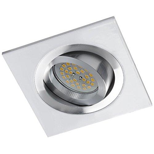Wonderlamp Classic W-E000005 - Foco empotrable cuadrado para techo, incluye portalámparas GU10....