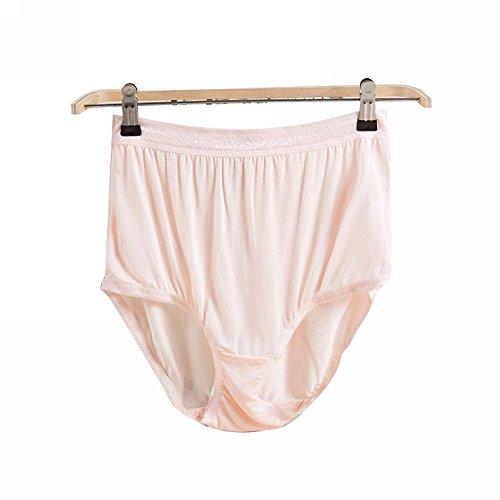 LONXU Damen 100% Seide taillenslip Pale Pink