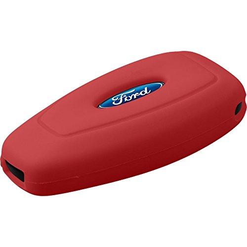 PhoneNatic Silikon Schlüssel Hülle für die Ford Mondeo / Fusion 3-Tasten Fernbedienung in rot Funkschlüssel 3-Key (Schlüssel Fernbedienung Ford)