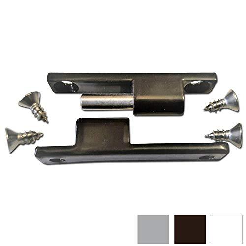 Scharnier Fliegengittertür als Ersatzteil oder Zubehör für Insektenschutztür oder Fliegentür (Standard, Schwarz RAL 8077)