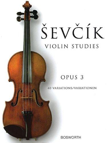Sevcik Violin Studies Opus 3: 40 Variations / Variationen