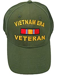 79fbd0e7649ff Vietnam ERA Veteran Cap w/ Bumper Sticker OD Green Hat Army Navy Air Force  Marine
