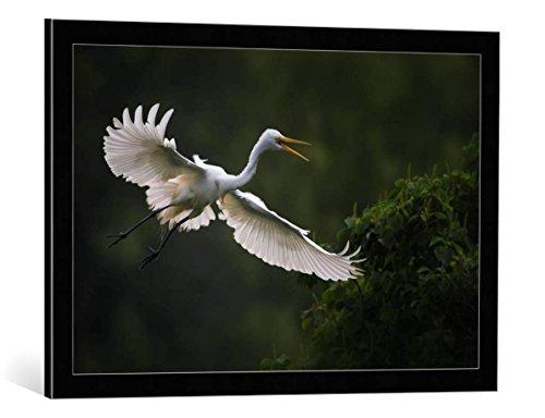 kunst für alle Bild mit Bilder-Rahmen: Phillip Chang Go Home - dekorativer Kunstdruck, hochwertig gerahmt, 75x50 cm, Schwarz/Kante grau