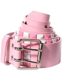 Accessoryo - style échiquier damier rose blanc clouté ceinture rose blanc  disponible dans une 3483df0f942