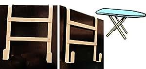 À repasser et porte-fer à suspendre à la porte avec support de rangement pour pinces à linge en métal