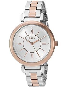 DKNY Damen-Armbanduhr Analog Quarz One Size, silberfarben, silber