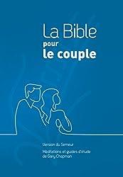 La Bible pour le couple : Couverture rigide quadri bleu