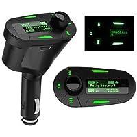 Elegiant - Lettore mp3 senza fili, USB, SD, MMC, con trasmettitore e telecomando, da auto verde