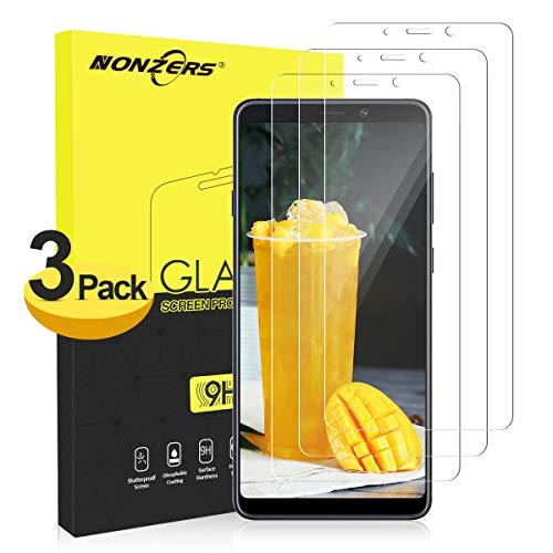 NONZERS Panzerglas Schutzfolie für Samsung Galaxy A9 2018/ A9 Star Pro[3 Pack], 3D Touch Kompatibel & 9H Härtegrad Blasenfrei Panzerglasfolie Bildschirmschutzfolie - Transparent
