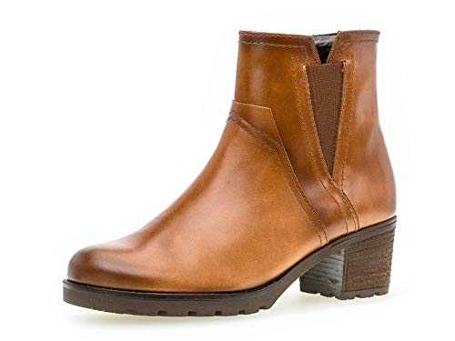 Gabor Donna Stivaletto 32.804, Signora Stivali,Stivaletti,Boot,Ankle Boot delle Donne,con Cerniera,Whisky/EF (Mel.),41 EU / 7.5 UK