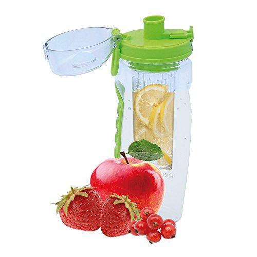 Sportastisch Trinkflasche Fruity Star Früchtebehälter | Grün | Bpa – Freies Tritan | 900ml | auslaufsicher, bruchsicher & spülmaschinenfest | 3 Jahre Garantie²