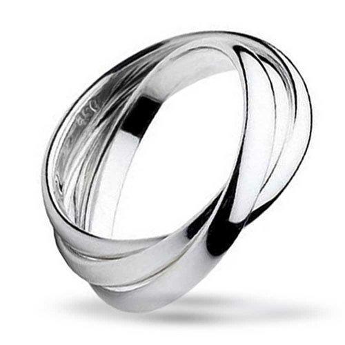 Einfache 925 Sterling Silver Dome Rolling Russische Paare Ehering Ring Für Damen Für Herren (Russische Eheringe)