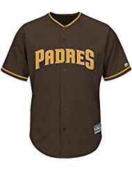 Majestic MLB San Diego Padres Cool Base Maillot Alternate Marron