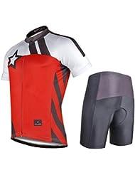 Bike Cycling Jersey Zipper Tops With Shorts Polyester imperméable à l'eau rapide Dry Women's Unisex Short Sleeve Short Pantalon Suit Bicycle Clothing Set Rouge