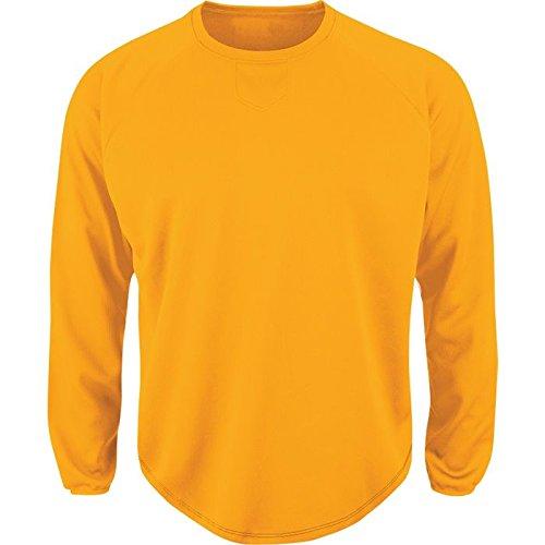 Majestic uomo Premier Home piastra Tech Fleece pullover Gold