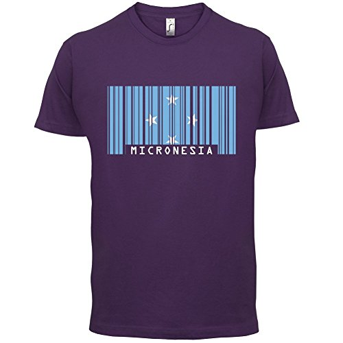 Micronesia / Föderierte Staaten von Mikronesien Barcode Flagge - Herren T-Shirt - 13 Farben Lila